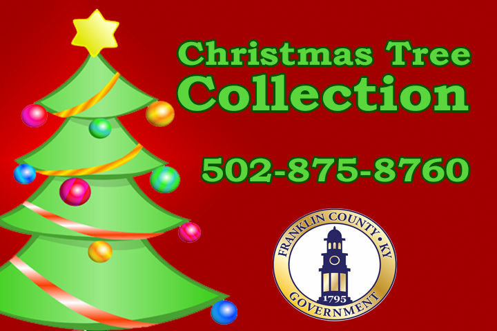 COUNTY TO PICK UP CHRISTMAS TREES