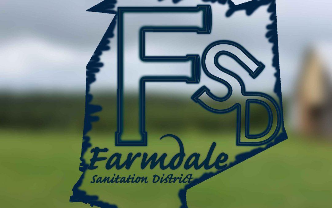 Farmdale Sanitation Work beginning April 15th